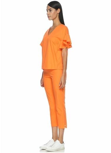 Mds Stripes Bluz Oranj